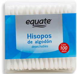Hisopos Equate de Algodón Desechables 100 U