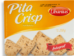 Pan Árabe Libanius Pita Crisp Horneado Integral Paquete 250 g