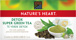 Té Verde Natures Heart Super Green Detox 20 U