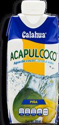 Agua de Coco Acapulcoco Piña 330 mL