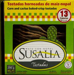 Tostadas Susalia de Maíz y Nopal  Horneadas 200 g