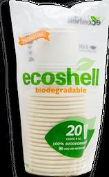 Vasos Ecoshell Desechable Biodegradable 20 U