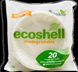 Platos Ecoshell Pasteleros Térmicos Bolsa 20 U