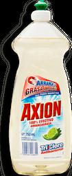 Lavatrastes Axion Tricloro Aroma Limón 750 mL