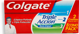 Pasta Dental Colgate Triple Acción Menta Original Caja 2 U