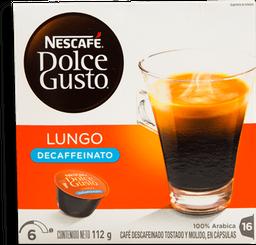 Cápsulas de Café Nescafé Dolce Gusto Lungo Descafeinado 16 U