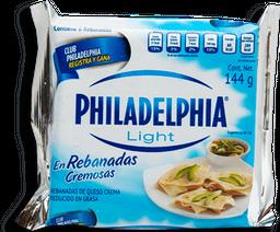 Queso Crema Philadelphia Light Rebanadas 144 g