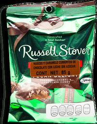 Nueces y Caramelo Con Chocolate Russell Stover Sin Azúcar 85 g