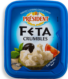 Queso Feta President Crumbles 170 g