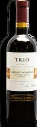 Vino Tinto Trio Cabernet Sauvignon Botella 750 mL