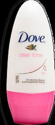 Desodorante Dove Clear Tone Roll On Para Dama 50 mL