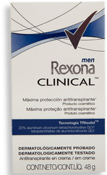 Antitranspirante Rexona Clinical Men en Crema 48 g
