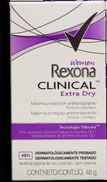 Antitranspirante Rexona Clinical Women Extra Dry 48 g