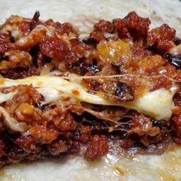 Tacos de Chorizo con Queso
