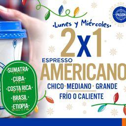 Lunes 2x1 Café Espresso