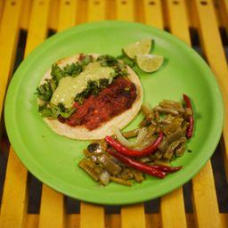 Taco de Chorizo Rojo