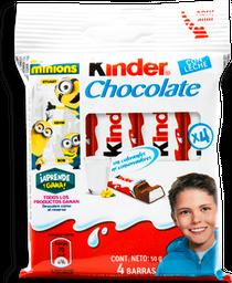 Chocolate Kinder Con Leche 12.5 g x 4