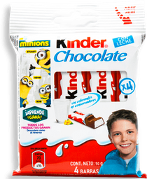 Chocolate Kinder Con Leche 12.5 g x 4
