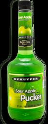 Licor Dekuyper Sour Apple Pucker Botella 750 mL