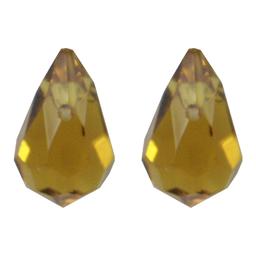 Gota Cristal Color 7x11 mm 100 U Topacio