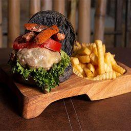 Hamburguesa Blackburger con Chistorra