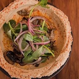 Hummus con Portobello
