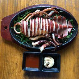 Calamar con mantequilla planchado
