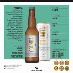 Colima Lager 355 Ml.