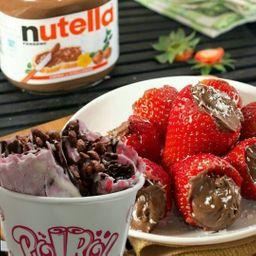 Helado Sabor Frutos Rojos y Nutella