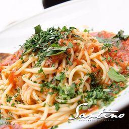 Spaghetti Pomodoro y Albahaca