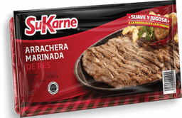 Carne SuKarne Arrachera de Res Marinada 600 g