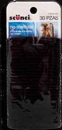 Ligas Para Cabello Scünci Línea Básica Color Negro 30 U