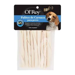 Palitos de Carnaza para Perro OL Roy Paquete Sabor Natural 10 U