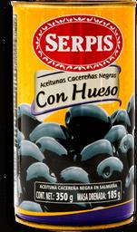 Aceituna Serpis Negra con Hueso 350 g