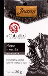 Colorante Para Telas El Caballito Negro Mezclilla Caja 20 g