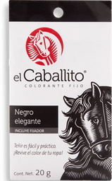 Colorante Para Telas El Caballito Negro Elegante Caja 20 g