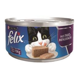 Alimento para Gato Felix Sabor Paté de Pavo y Menudencias 156 g
