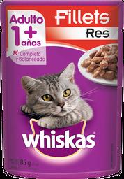 Alimento Para Gato Whiskas Fillets Res Adulto 85 g