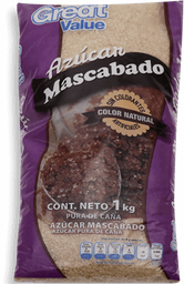 Azúcar Great Value Mascabado 1 Kg