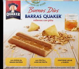 Barra de Cereal Quaker Rellenas Con Piña 30 g x 8