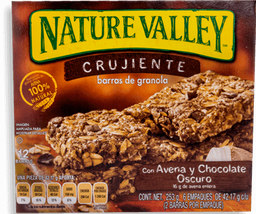 Barra de Cereal Nature Valley Avena y Chocolate 42.17 g x 6