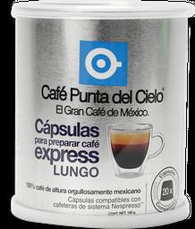 Cápsulas de Café Punta Del Cielo Express Lungo 20 U