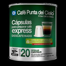Cápsulas de Café Punta del cielo Express Descafeinado 20 U