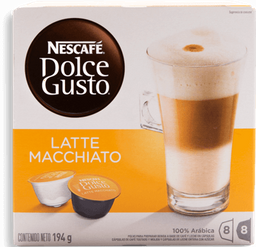 Cápsulas de Café Nescafé Dolce Gusto Latte Macchiato 16 U