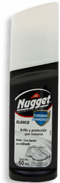 Cera Líquida Nugget Para Calzado Color Blanco 60 mL
