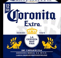 Cerveza Corona Extra Botella 210 mL x 12