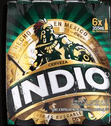 Cerveza Indio Oscura 355 mL x 6