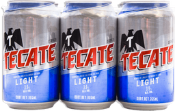 Cerveza Tecate Light Lata 355 mL x 12