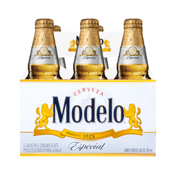 Cerveza Modelo Especial Botella 355 mL x 6