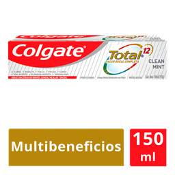 Colgate Pasta Dental Total 12 Clean Mint 150 Ml